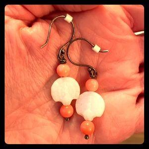 Beaded dangle earrings - light and pretty!
